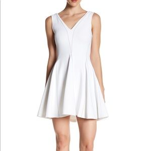 Opening ceremony white fit and flare dress